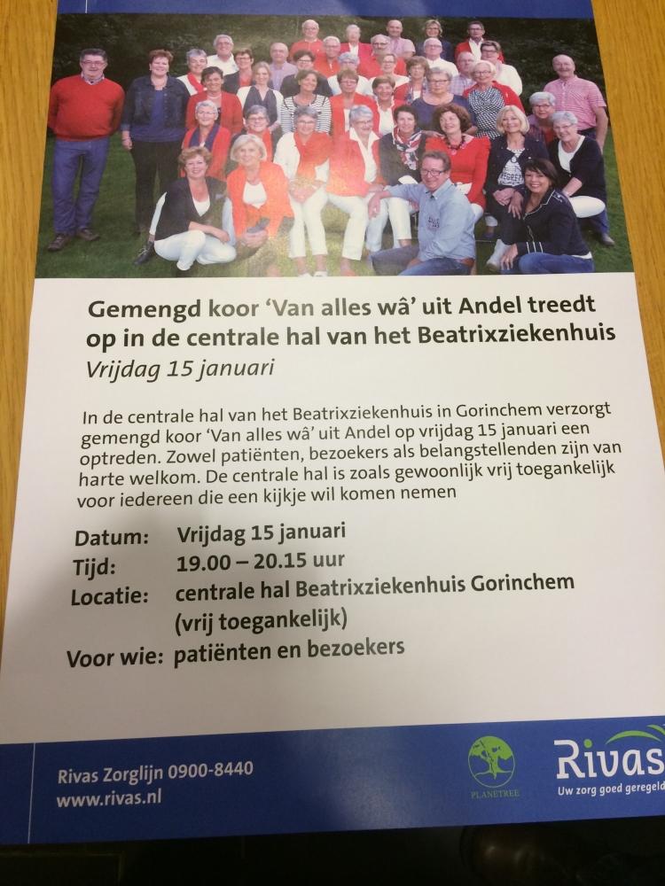 Optreden Beatrix Ziekenhuis Gorinchem